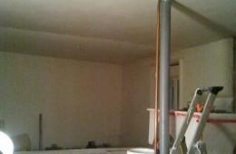 Rattrapage en plâtre sur plafond traditionnel