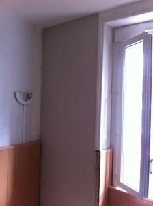 rattrapage plâtre mur tuffeau