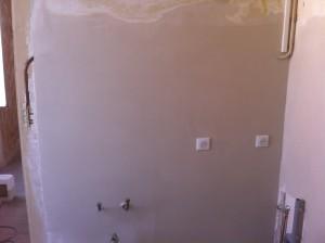 Plâtre sur mur retrait faïence 2