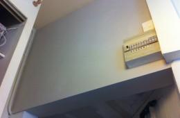 Rattrapage en plâtre traditionnel d'un mur en tuffeau